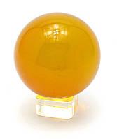 Шар хрустальный на подставке оранжевый (8 см)
