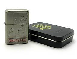 Зажигалка бензиновая, бронзовая, в подарочной упаковке (T01-7571a)