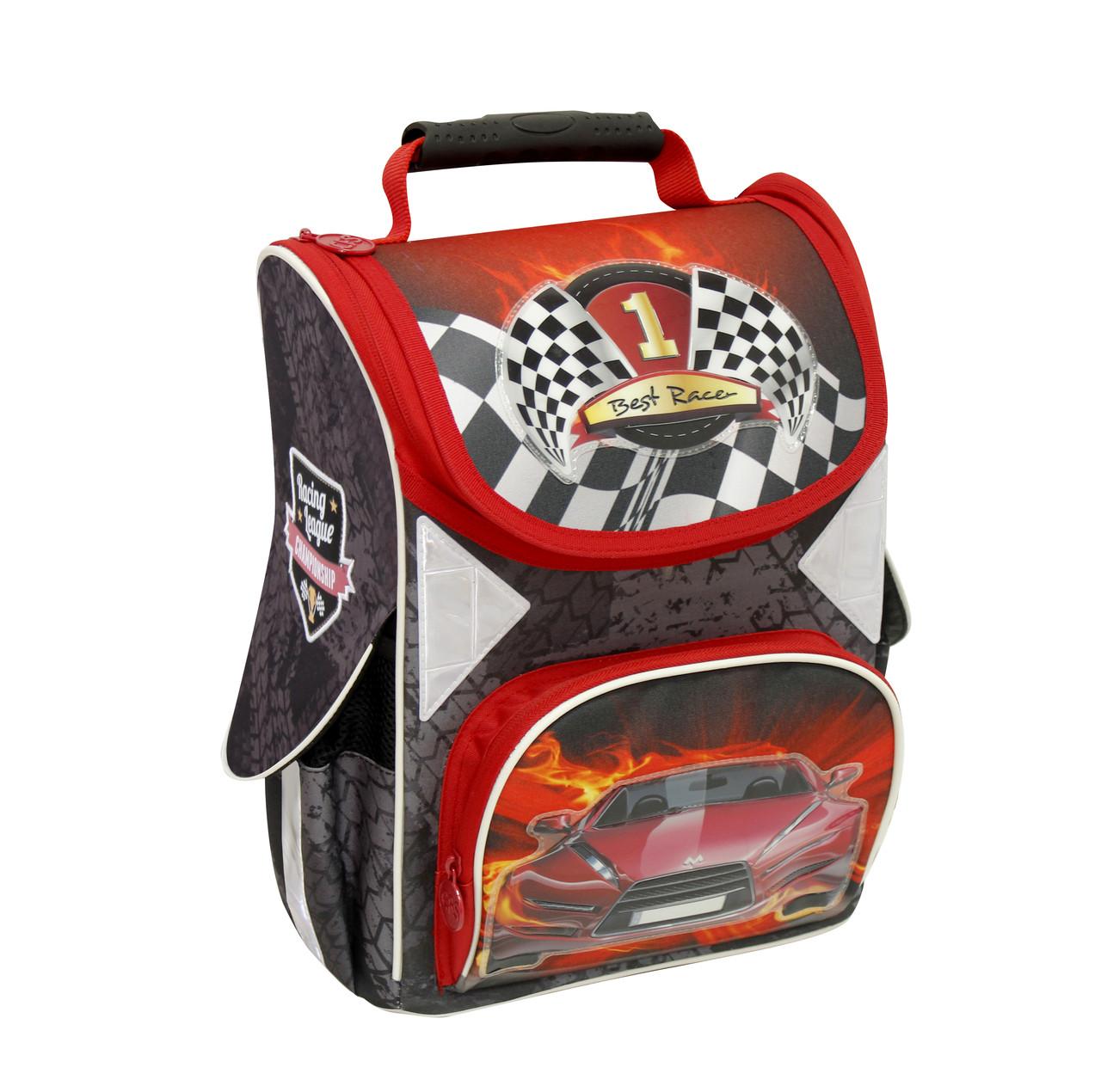 """Ранец школьный каркасный ортопедический """"Racing League"""" 85275 Cool For School для мальчика"""