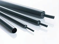 Термоусадочная трубка (4Х) c клеем 6,0/1,5 мм, чёрная, 1метр