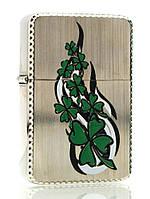 Зажигалка бензиновая, бронзовая, в подарочной упаковке (T01-7535b)