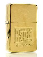 Зажигалка бензиновая, бронзовая, в подарочной упаковке (T01-7524d)