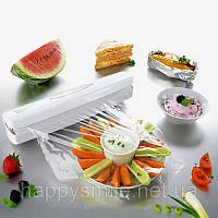 Диспенсер Wraptastic для хранения и разрезания пищевой пленки, фольги, бумаги