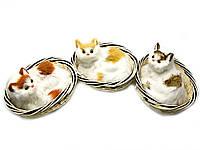 Кошка в корзинке (22х17х10,5 см)
