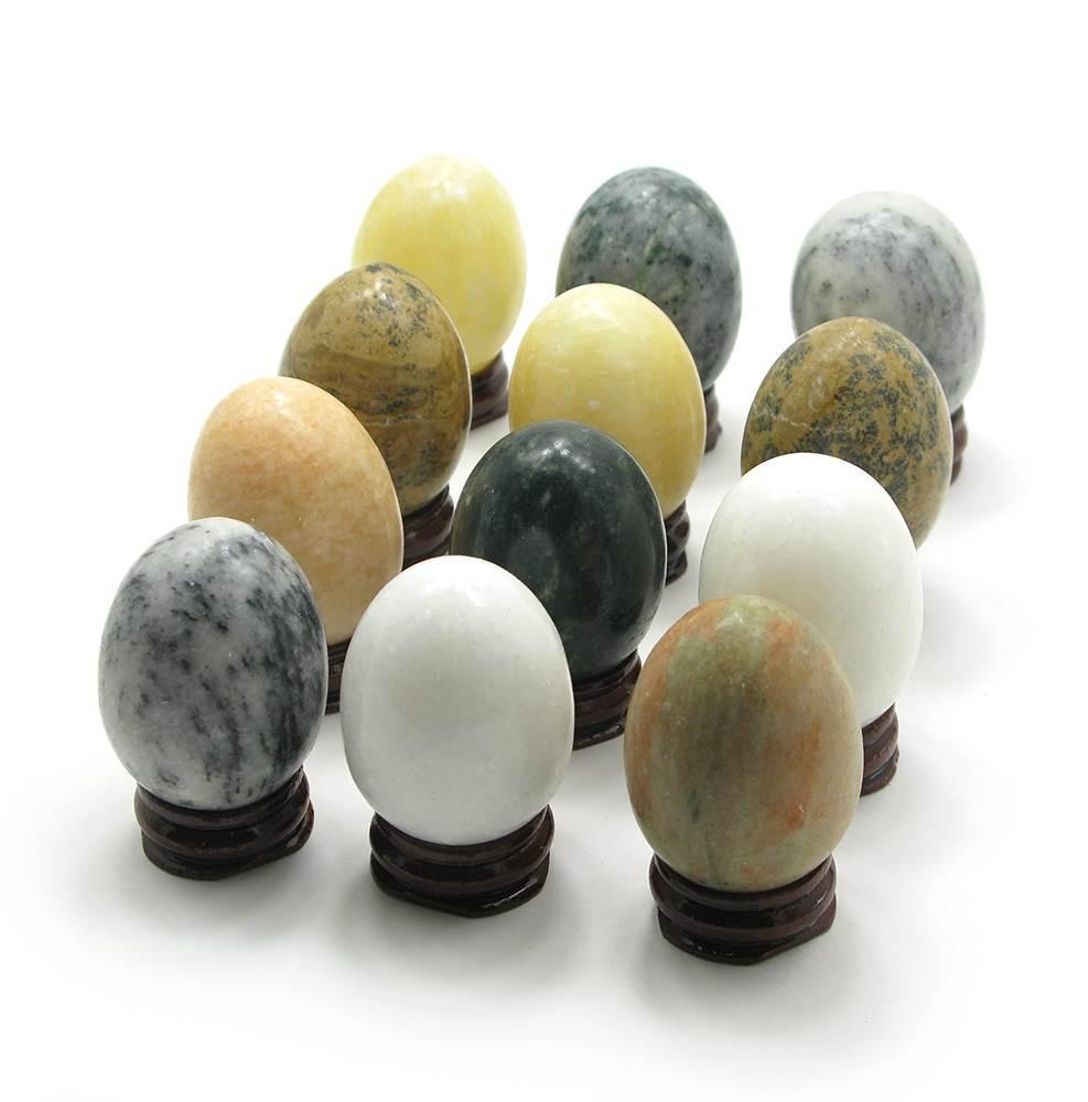 """Яйца каменые на подставке (в наборе 12 шт) (6х3,5х3,5) - СКЛАД ОПТОВОЙ ТОРГОВЛИ """"MIXOPTMARKET"""" в Киеве"""