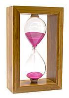 Часы песочные в бамбуке (20х12,5х6 см)(220)