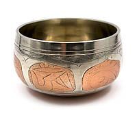 Чаша поющая (без резонатора)(d-8,5 см)(Singing Bowl Silver Copper no.0)