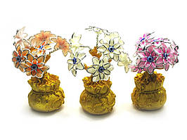 Цветы на мешке богатства (20х8х8 см)(12219)