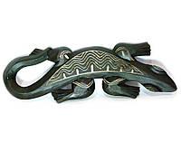 Гекон деревянный резной (17х2х50 см)(AR1334S)