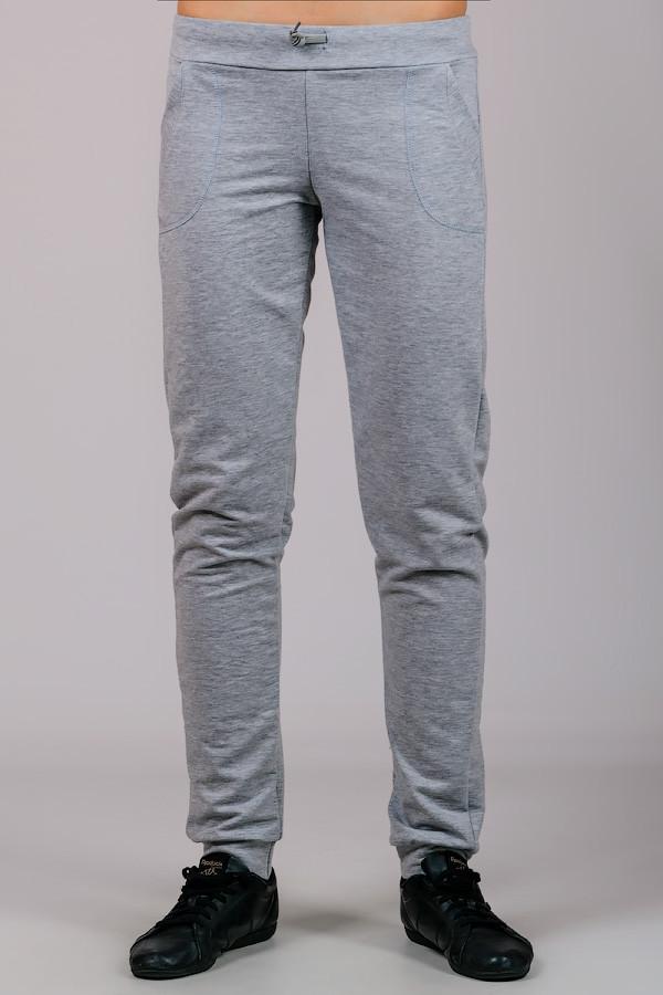 Женские трикотажные брюки Гольфстрим (светло-серые)