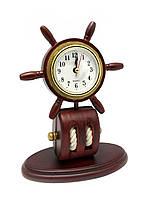 """Часы настольные """"Штурвал"""" (2 шт/уп)(20х15х8 см)(1028-S)"""