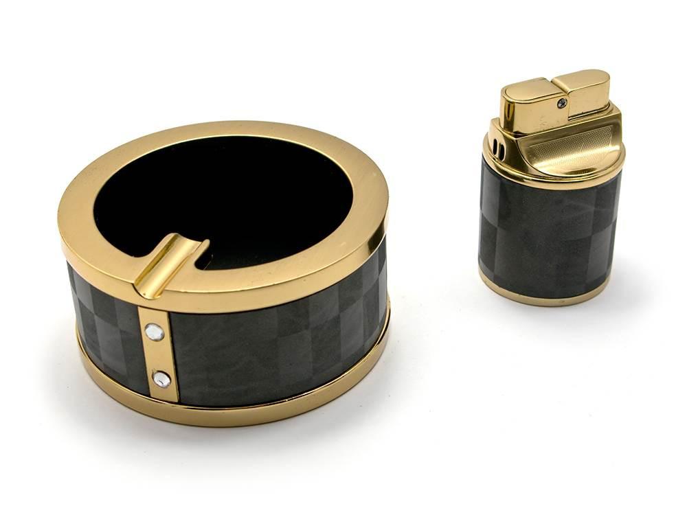 Подарочный набор (Пепепельница с зажигалкой)(BR-11T)(17х12х5 см)