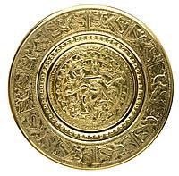"Тарелка настенная бронзовая ""Танцующий Шива"" (d-23 см)(Wall Plate Natraj 10"")"