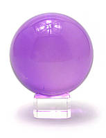 Шар хрустальный на подставке фиолетовый (11 см)