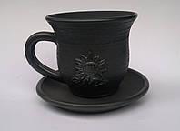 "Гаварецкая дымленая керамика ""Чашка подсолнух"""