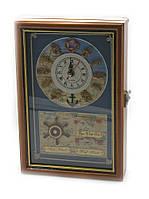 """Ключница с часами """"Морская"""" (30х20х6 см) (30620)"""