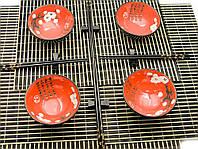 """Сервиз для лапши """"Красный с цветами сакуры"""" (4 персоны)(34,5х34,5х7 см)(51364-1)"""