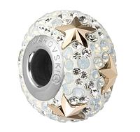 Пандора шармы от Swarovski Elements 181712 Rose Gold, White Opal