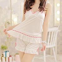 Женская пижама белого цвета