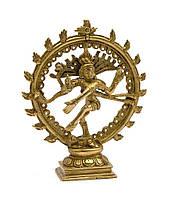 """Шива танцующий бронзовый (16,5х13,5х4,5 см) (Natraj Ring med 8""""MT)"""
