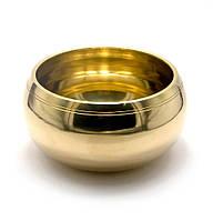 Чаша поющая бронзовая (без резонатора)(d 14 см)(Yellow Plain no.3)