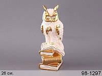 Статуэтка Сова на книгах 26 см фарфор 98-1297