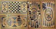 Нарды+шахматы из бамбука (60*30 см) (B6030-5)(Fine)
