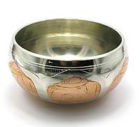 Чаша поющая (без резонатора)(d-15 см)(Singing Bowl Silver Copper no.4)