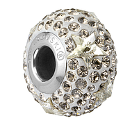 Шармы Пандора от Swarovski Elements 81712 Crystal Silver Shade, Greige (упаковка 12 шт)