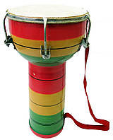 """Барабан джембе """"Раста"""" (В-36см., д-р 18-11см.)(JAMBA)"""
