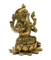 Ганеша бронза (15,5х12,5х10 см) (Ganesh Lotus med CH)