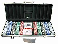 Покерный набор в кейсе (2 колоды карт +500 фишек) (CBA205 500)(59х25х9 см)