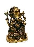 Ганеша бронза (14х10х7 см)(Ganesh Mukht med CH)