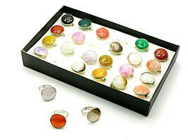 Перстни с камнем 24 шт (22,5х14х3,5 см)