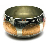 Чаша поющая (без резонатора)(d-18 см)(Singing Bowl Silver Copper no.5)