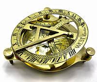 Солнечные часы с компасом бронзовые (15 Х 15 см.)