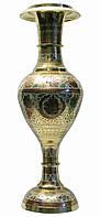 """Ваза бронзовая цветная (51х15х15 см)(Flower vase Kashmiri Clr 20"""")"""