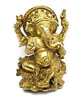 Ганеша бронза (18х12х8 см) (Ganesh Kamal Fine Big CH)
