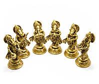 Ганеша бронза (н-р 6 шт) (Ganesh Music Set of 6ps)