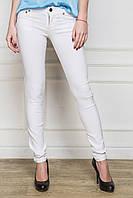 Обтягивающие зауженные белые женские джинсы котон