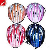 Шлем красный ms 0342 для катания, 4 цвета, в кульке