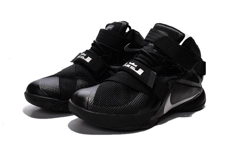 Мужские кроссовки NIKE LEBRON SOLDIER 9 черные - Shoes-intime в Харькове c9384eca881