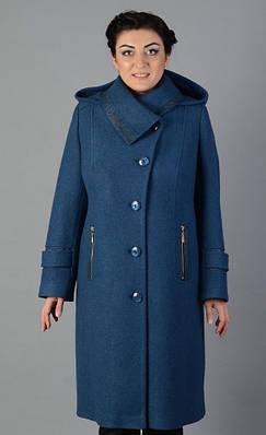 Женское пальто c капюшоном длинное