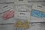 Декоративная прищепка натурального цвета (3 см)., фото 3