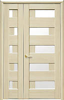 Комплект дверей двустворчатый Пиана с сатином от Новый стиль (венге new, зол.ольха, каштан, ясень, grey)