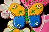 """Подарок на 8 марта - расписной медовый имбирный пряник """"Бабочка"""""""
