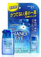 Синие - суперосвежающие капли для снятие покраснения (6 мл) Rohto Nano Eye Hawkeye