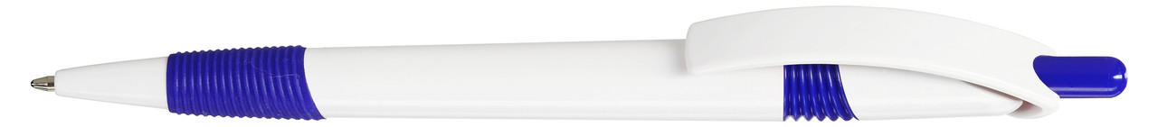 Ручка пластиковая VIVA PENS Arte Rubber бело-синяя
