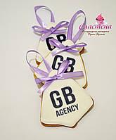 Корпоративный подарочный медовый имбирный пряник  с логотипом компании