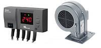 Комплект автоматики для твердотопливных котлов KG Elektronik CS-20  + вентилятор DP 02
